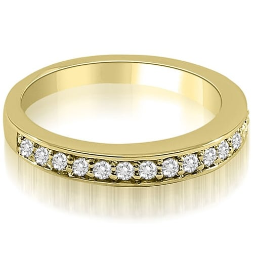 0.35 cttw. 14K Yellow Gold Classic Round Cut Diamond Wedding Ring