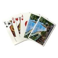 Charleston South Carolina - Street View - LP Photo (Poker Playing Cards Deck)