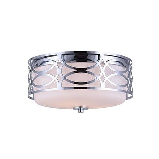 "Canarm IFM173B12 Drake 2 Light 11-3/4"" Wide Flush Mount Ceiling Fixture"
