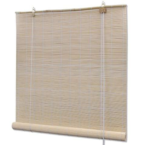 "vidaXL Roller Blind Bamboo 59.1""x63"" Natural"
