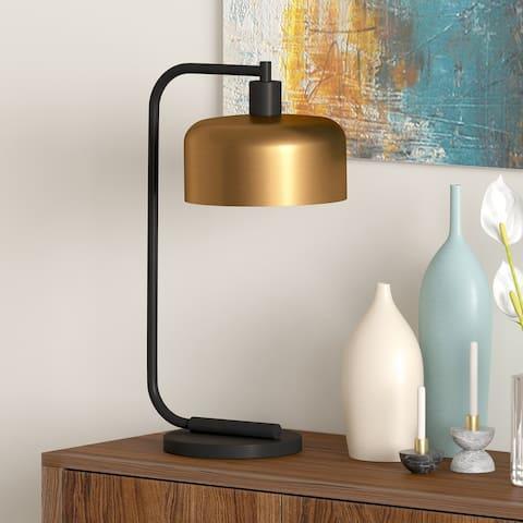 Carson Carrington Saevja Industrial Farmhouse Antique Brass Table Lamp