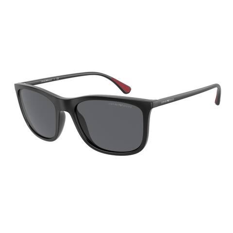Emporio Armani EA4155 504287 57 Matte Black Man Pillow Sunglasses