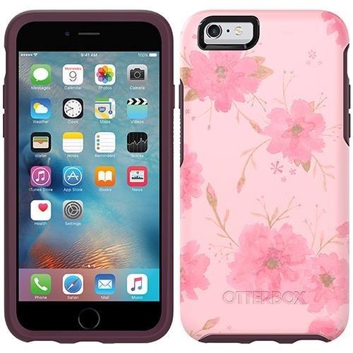 sale retailer 49f06 2d394 OtterBox Symmetry Series Drop Protection iPhone 6 6s Case - Pink Fleurs