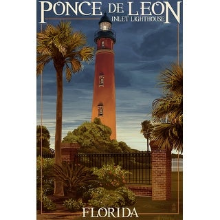 Ponce De Leon Inlet Lighthouse, Florida - Dusk Scene - Lantern Press Artwork (Poker Playing Cards Deck)