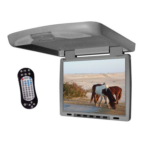 Tview t144dvfd tview 14 flip down monitor with built in dvd ir/fm trans gray