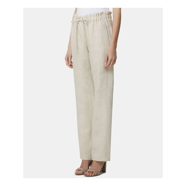 TAHARI Womens Ivory Wear To Work Pants Size 12