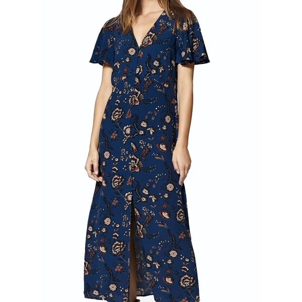 d64ec8a6562ac Shop Sanctuary Blue Women's Size XL Button Down Floral Maxi Dress ...