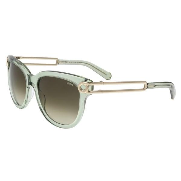 Chloe CE679/S 317 Light Green Wayfarer Sunglasses - LIGHT GREEN - 54-18-135