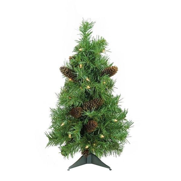 "2' x 15"" Pre-Lit Dakota Red Pine Full Artificial Christmas Tree - Clear Lights - green"