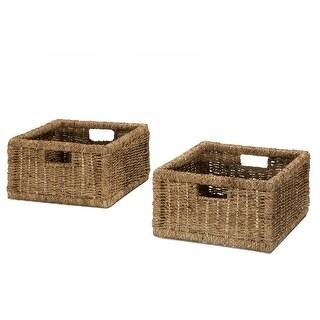"Hillsdale Furniture 4700-002  Seneca 13"" Wide Seagrass Basket - Set of (2) - Natural Seagrass"