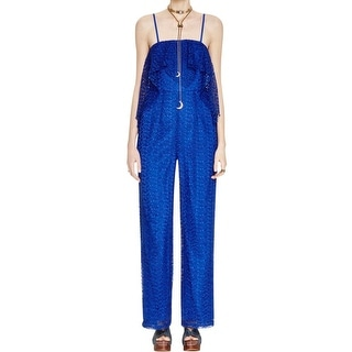 Free People Womens Jumpsuit Lace Overlay Strapless