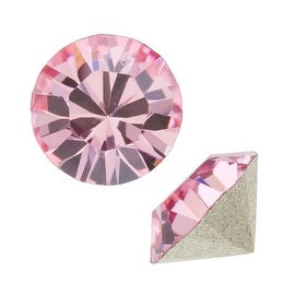 Swarovski Crystal, 1088 Xirius Round Stone Chatons pp24, 36 Pieces, Lt Rose