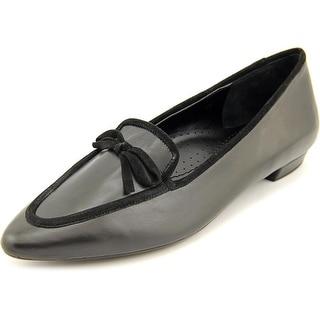 Vaneli Gada Women Pointed Toe Leather Black Flats