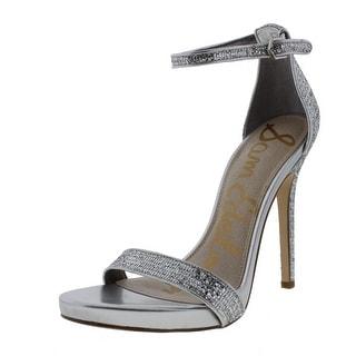 Sam Edelman Womens Eleanor Leather Sequined Stilettos - 7 medium (b,m)