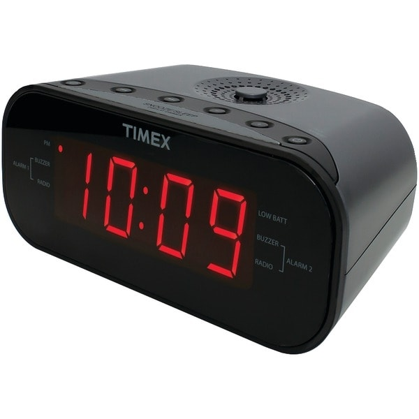 Timex T231Gy2 Am/Fm Dual Alarm Clock Radio With Digital Tuning (Gunmetal Gray)