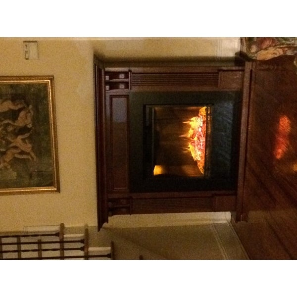 Ashley Mahogany Electric Fireplace By Real Flame Free Shipping Today 6518687