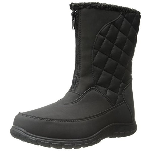 Totes Womens Amanda Winter Boots Faux Leather Waterproof