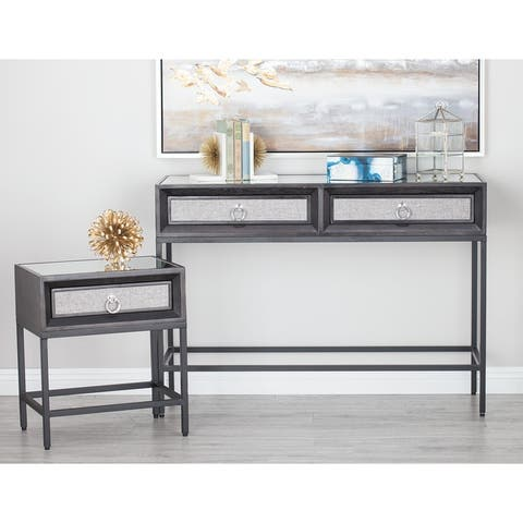 MDF Glam Console Table (Set of 3) - 45 x 16 x 32