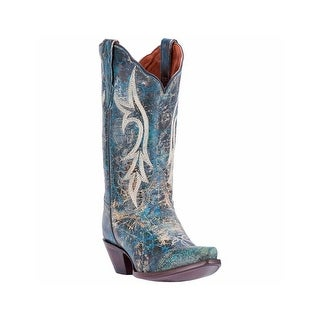 Dan Post Western Boots Womens Knockout Distressed Turquoise