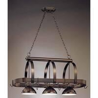 "Volume Lighting V3023 3 Light Down Light 23"" Height Chandelier with Metal Dome S"