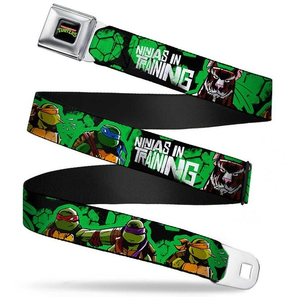 Classic Tmnt Logo Full Color Classic Tmnt Turtles Pose11 & Splinter Ninjas Seatbelt Belt