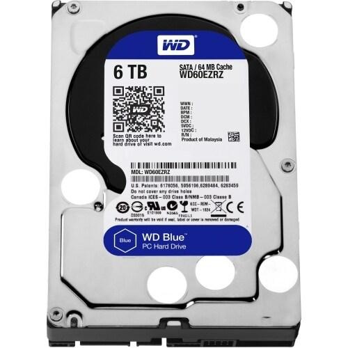 """""""WD WD60EZRZ WD Blue 6 TB 3.5-inch SATA 6 Gb/s 5400 RPM PC Hard Drive - SATA - 5400 - 64 MB Buffer - Blue"""""""
