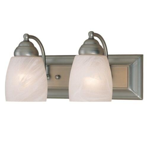 Millennium Lighting 5002 2 Light Bathroom Vanity Light - satin nickel