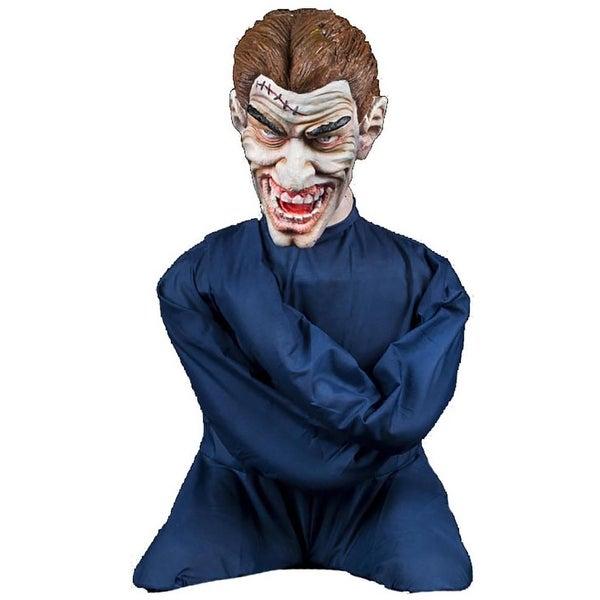 Halloween Horror Scary Insane Inmate Straight Jacket Animatronic Prop