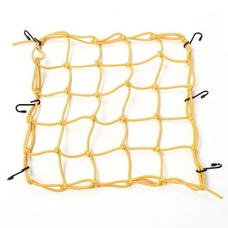 Unique Bargains Universal Elastic Stretchy 6 Hook Motorcycle Cargo Package Flexible Net Yellow