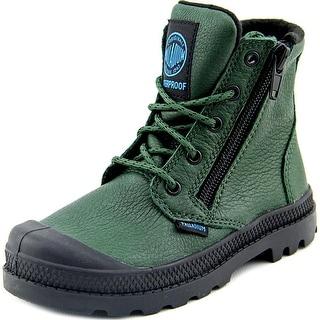 Palladium Pampa Hi Youth Square Toe Leather Green Chukka Boot
