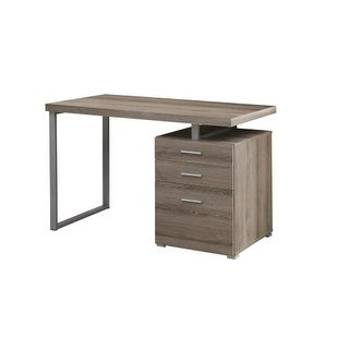 Tanis Grey Wood Chrome Writing Desk Free Shipping Today