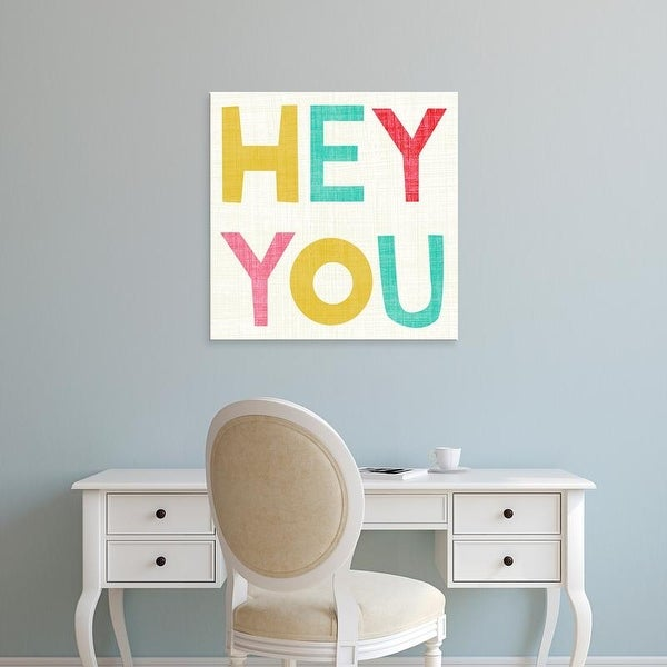 Easy Art Prints Chariklia Zarris's 'Hi You II' Premium Canvas Art