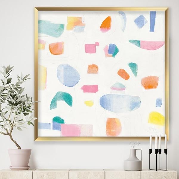 Designart 'Joy Geometric Simple' Mid-Century Modern Premium Framed Art Print. Opens flyout.