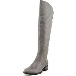 Calvin Klein Gladys Round Toe Leather Over the Knee Boot