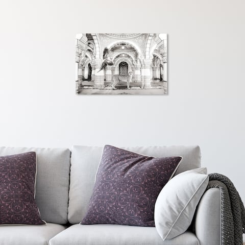 Oliver Gal 'Ball Room Pals' Architecture Gray Wall Art Canvas Print
