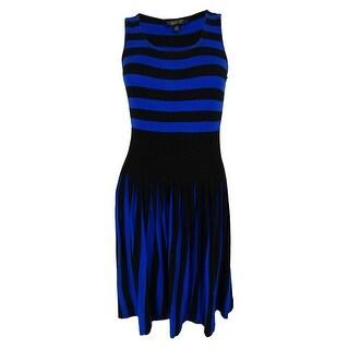 Spense Women's Sleeveless Striped Colorblock Dress