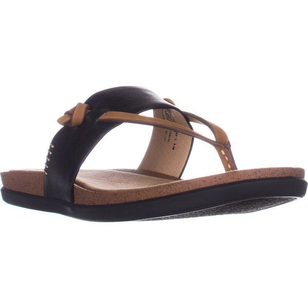 G.H. Bass & Co. Shannon Flat Comfort Sandals, Black