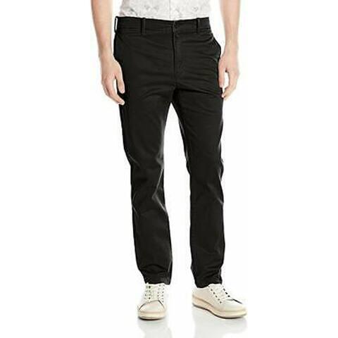 Levi's Men's 511 Slim Fit Welt Chino Pant, Black/Cruz Twill, 32x34