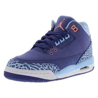 Jordan Retro 3 Basketball Girls Gradeschool Shoes Size