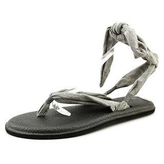 Sanuk Yoga Slinged Up Women Open Toe Canvas Flip Flop Sandal