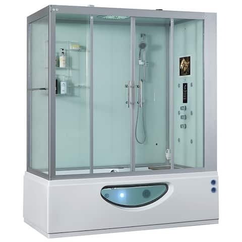 2020 Catania Steam Shower Sauna Jetted Whirlpool Massage Jacuzzi Bathtub Spa with Bluetooth Phone & Smart TV