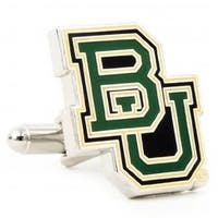 NCAA Baylor Bears Cufflinks - Multicolored
