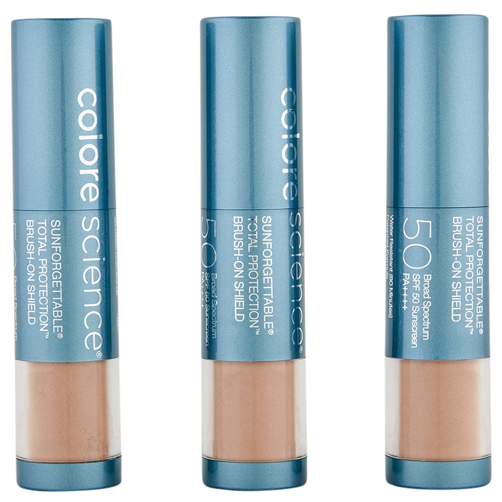ColoreScience Sunforgettable Total Protection Brush-On Shield SPF 50 Multipack Deep (Blue - Facial Sunscreen)