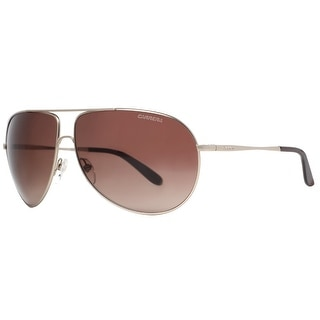 Carrera New Gipsy/S AOZ/J6 Matte Gunmetal/Brown Aviator Sunglasses - matte gunmetal - 64mm-11mm-125mm