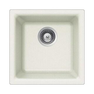 "Houzer E-100  Quartztone 15-3/4"" Single Basin Drop In or Undermount Kitchen Sink"