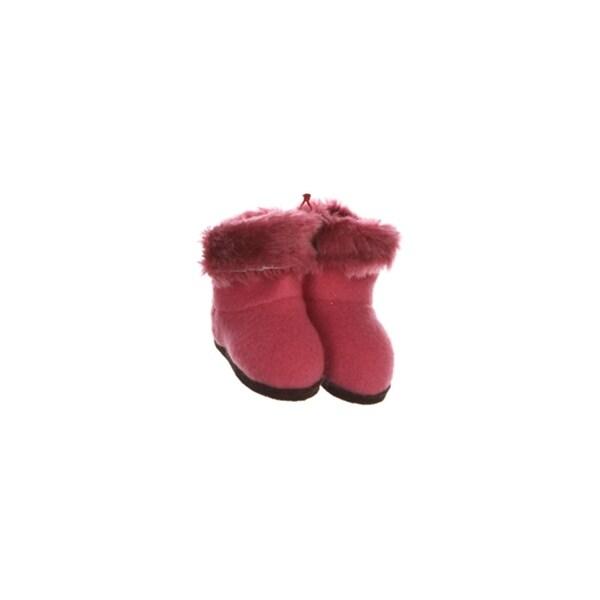 "3"" Fashion Avenue Fuchsia Pink Plush Faux Fur Winter Boots Christmas Ornament"