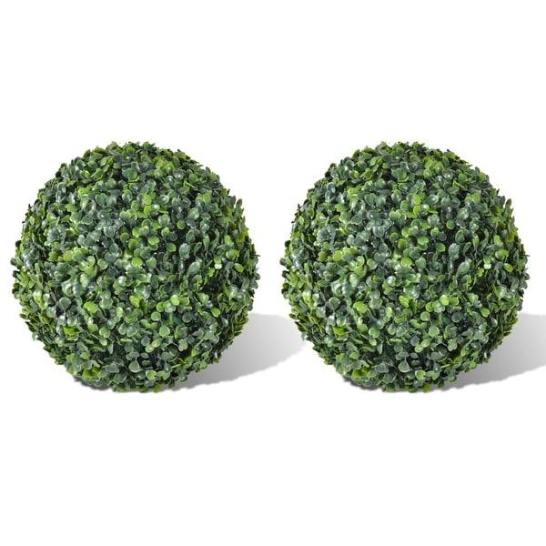"vidaXL Boxwood Ball Artificial Leaf Topiary Ball 10.6"" 2 pcs"