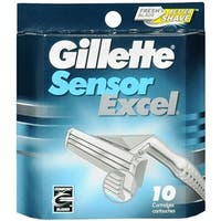Gillette Sensor Excel Cartridges 10 Each