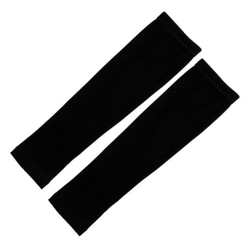 Outdoor Sports Bicycle Cycling Sun Protection Cover Arm Sleeves Black Pair
