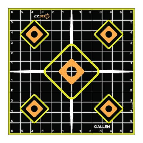 """Allen 15224 EZ See Adhesive Sight-In Grid Targets, 12"""", 5-Pack"""